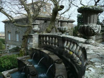 Villa Lante - VT - La fontana dei Lumini e la palazzina Montalto